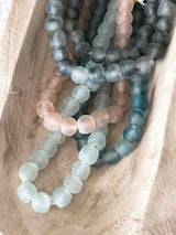 Rose Quartz Glass Boho Beads