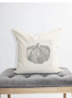 Gray Watercolor Pumpkin Pillow Cover