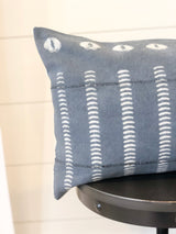 Zuri Blue Mudcloth Pillow Cover