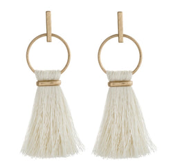 The Ivory Tassel Earrings
