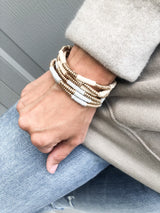 The gold and gray bangles set