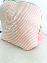 Pink Be The Light Tassel Pouch