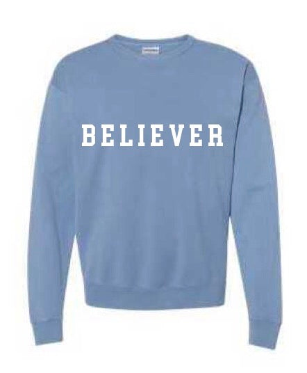 BELIEVER salt water crew neck