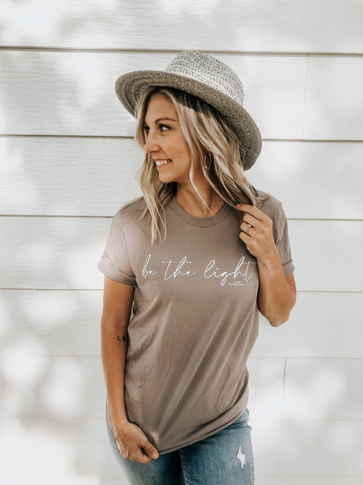 Be the Light Tee pebble