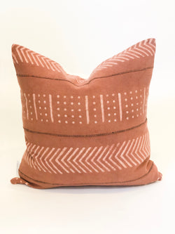 Odell Rust Mudcloth Pillow Cover