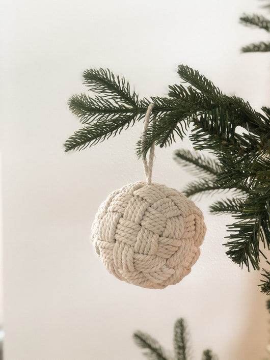 "4"" Rope Knot Ornament"