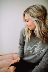 She is Strong Heather Gray Crewneck