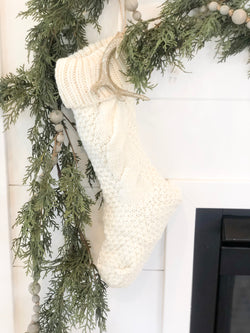 Cream Knit Stocking