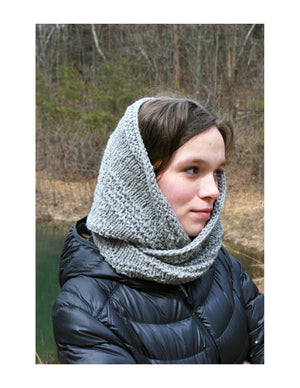 Nekoda Cowl Pattern wrapped around head