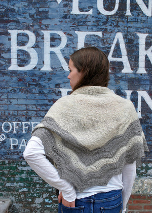 Swatara Shawl Pattern back view