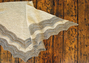 Swatara Shawl Pattern flat view