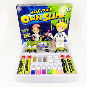 6 Colors DIY Slime Kit Fluffy Crystal Play Game for Kid