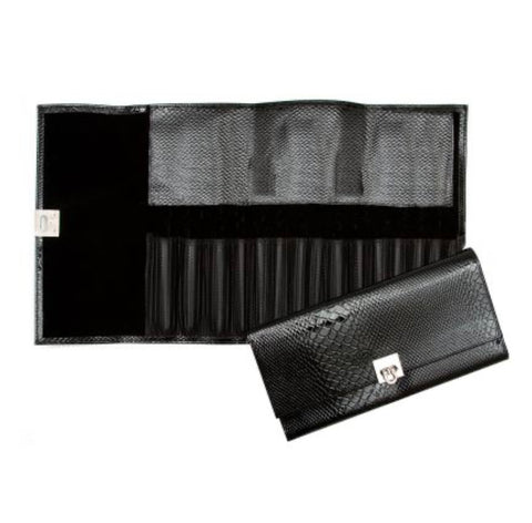 Black Croc Brush Case