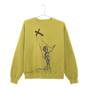 Painted Puppet Acid Green Crewneck