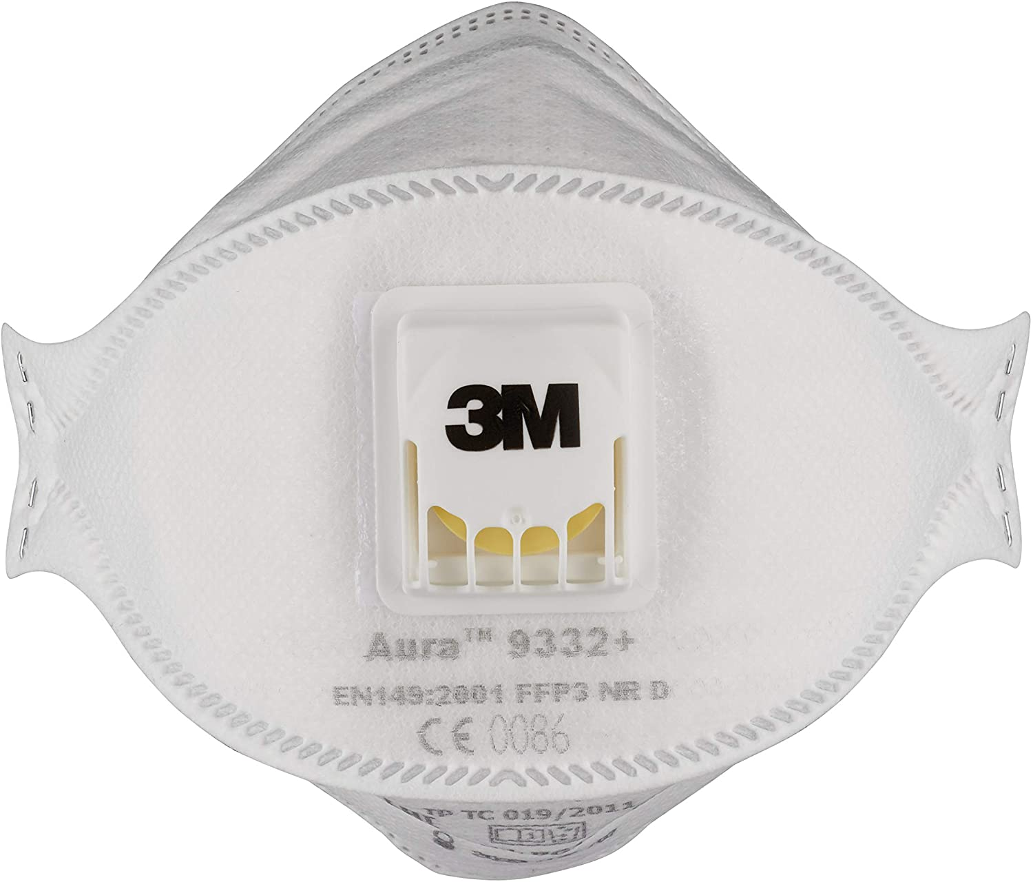 3M 9332PP Valve Mask Folded, White