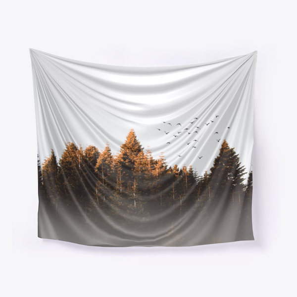 Flock Of Birds Wall Tapestry