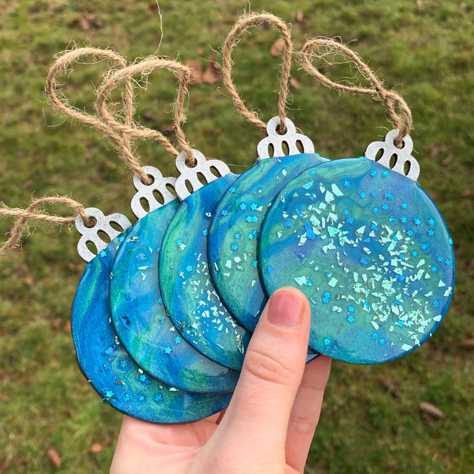Blue & Green Ornaments