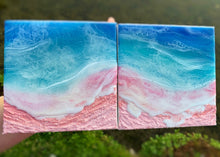 Load image into Gallery viewer, Dreaming of Pink Beaches Diptych