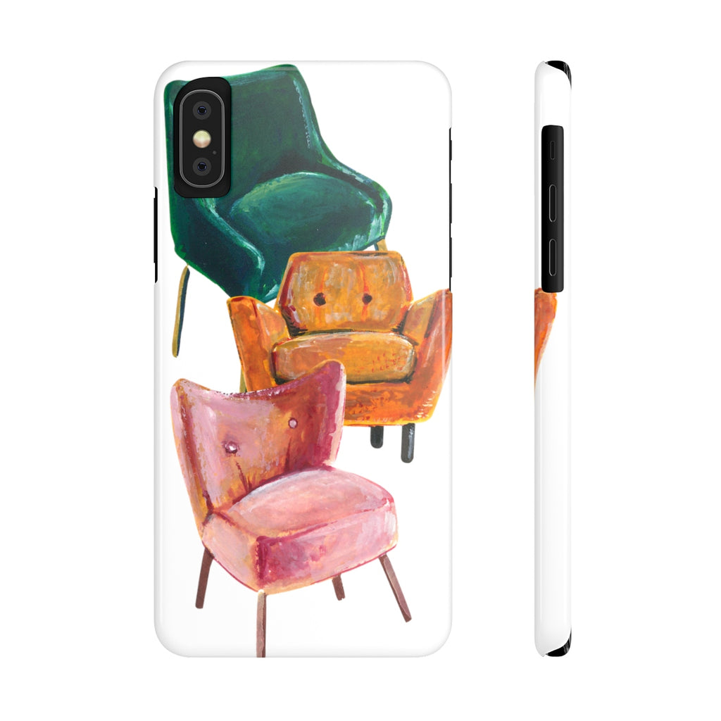 Chairs iPhone Case | Slim Snap Phone Cover