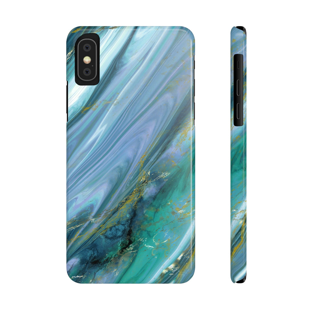Green Agate iPhone Case | Slim Snap Phone Cover