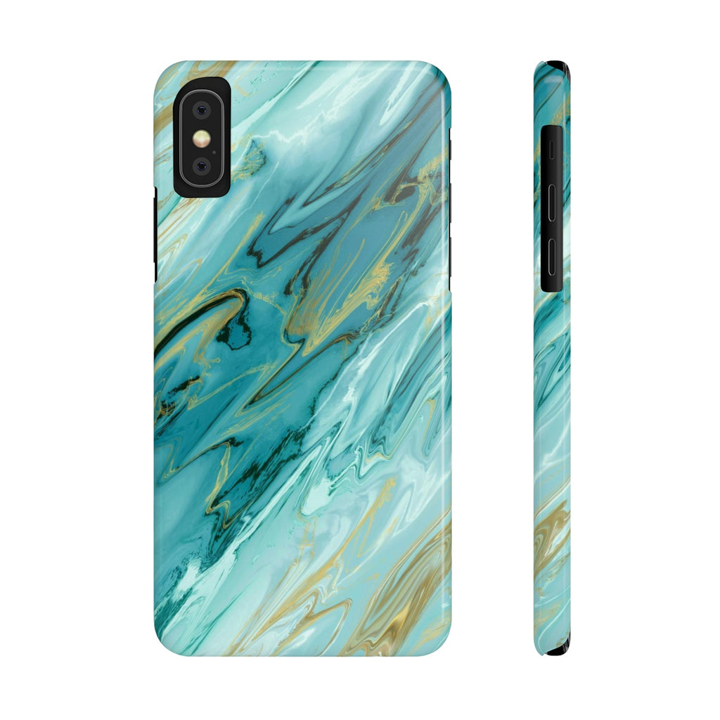 Blue Agate iPhone Case | Slim Snap Phone Cover