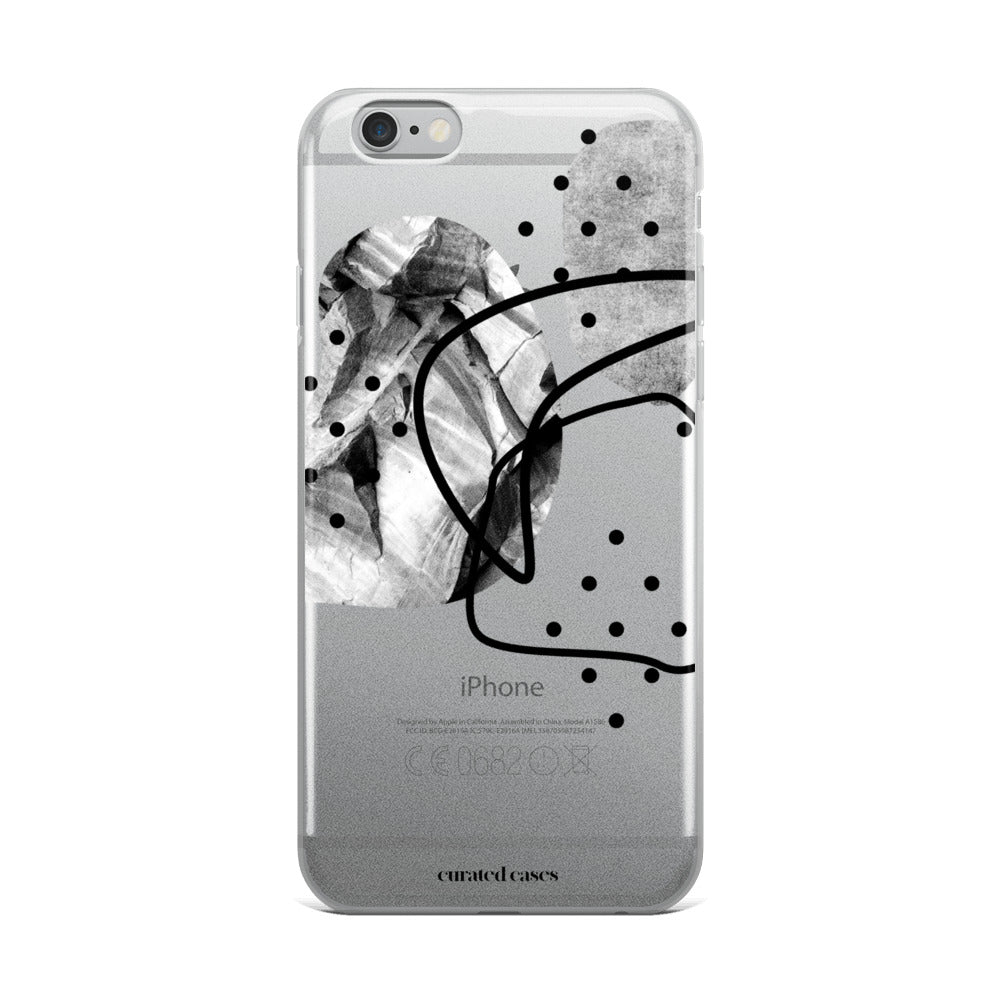 Greyscale Contemporary iPhone Case | Flexible Phone Cover