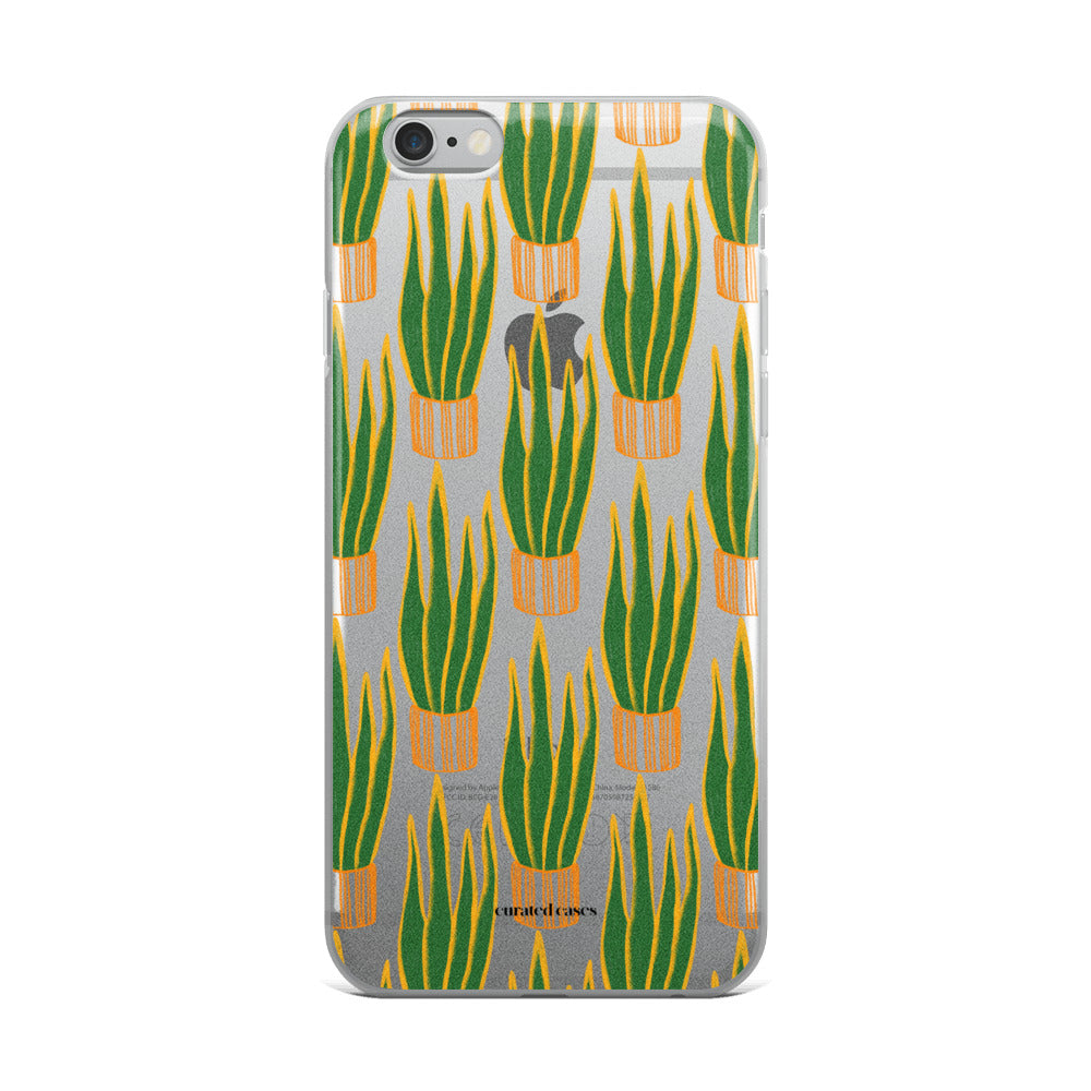 Snake Plant iPhone Case | Clear | Flexible Phone Cover
