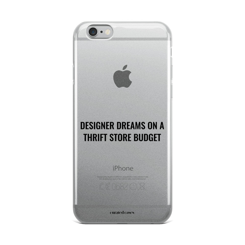 Designer Dreams Clear iPhone Case | Flexible Phone Cover