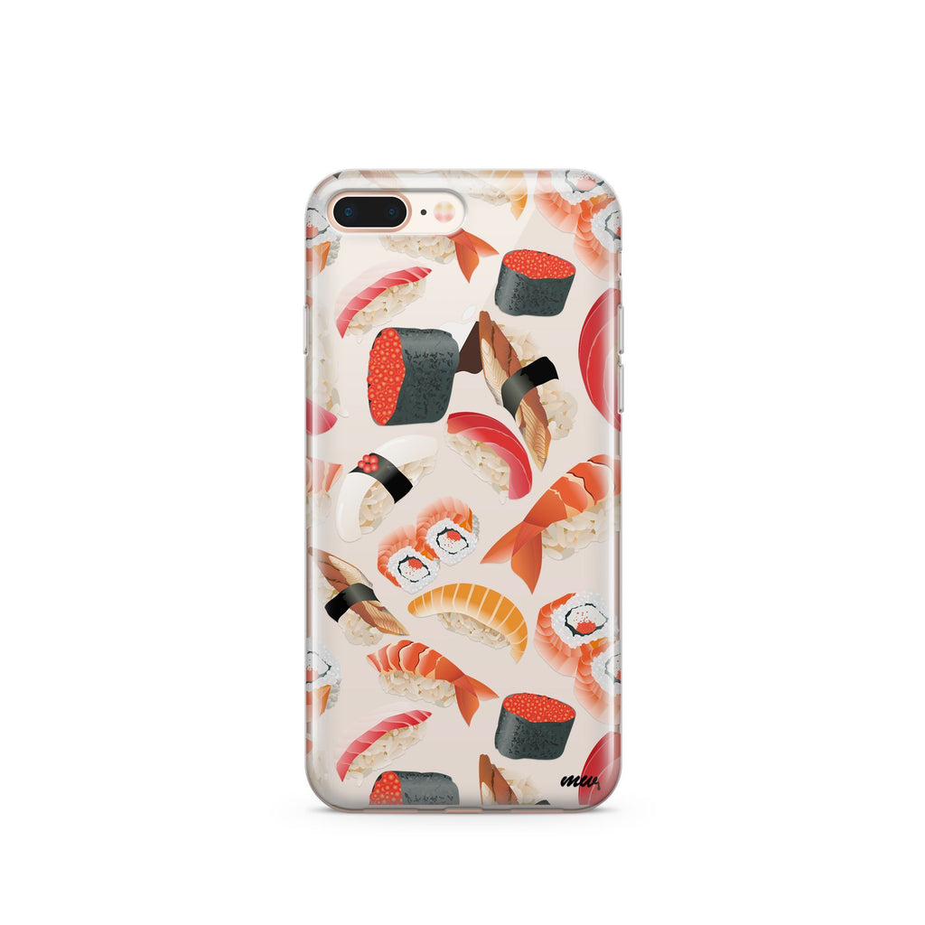Sushi Bites Clear iPhone Case | Flexible Phone Cover