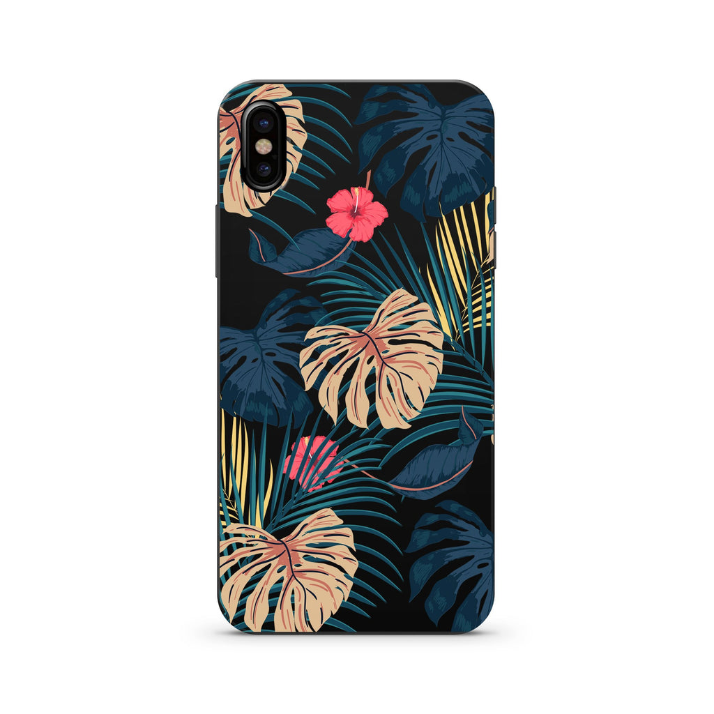 Deep Monstera Black Wood iPhone Case | Wooden Phone Case