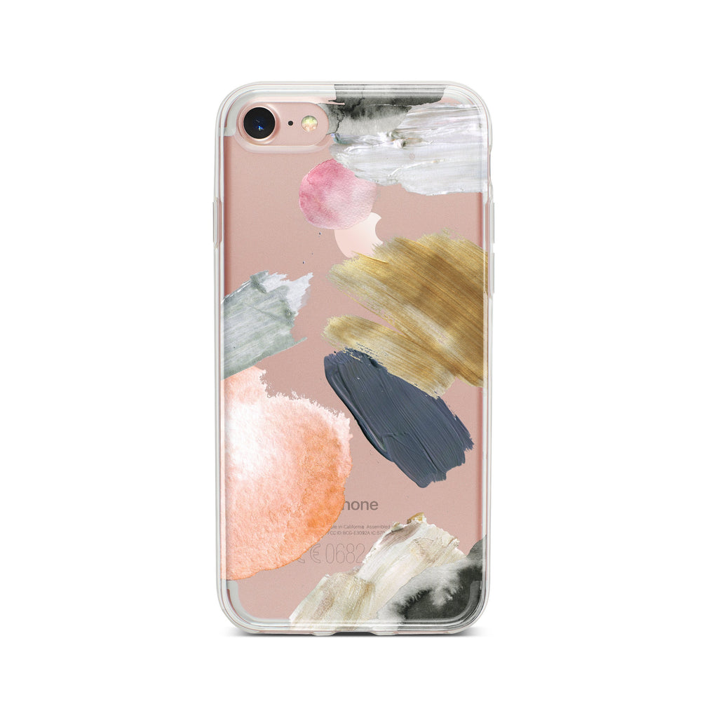 Abstract Strokes Clear iPhone Case | Flexible Phone Cover
