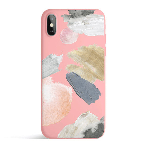 Abstract Strokes iPhone Case | Candy Colors | Slim Snap Phone Cover