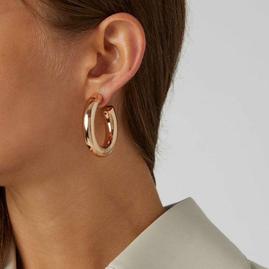 Aimée Small Stud Back Hoop Earrings