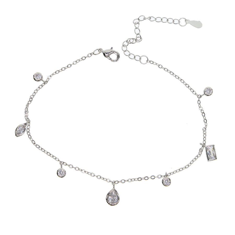 estee lane silver charm anklet