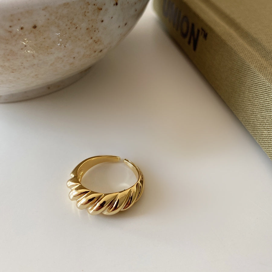 Gold Vermeil Crescent Dome Ring