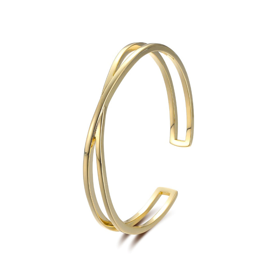 Gold Verso Bangle Estee Lane