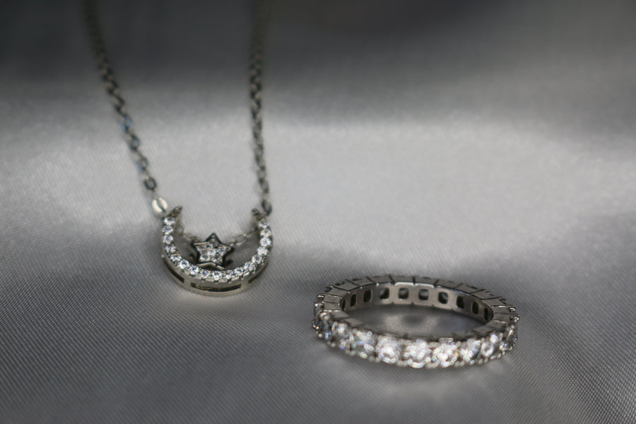 silver jewellery gift set