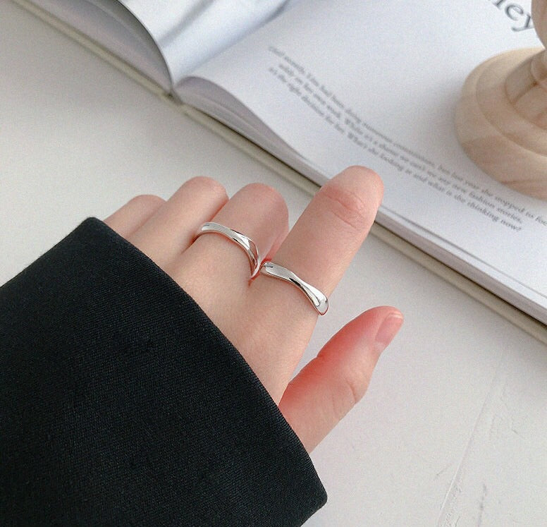 Adjustable Silver Teres Ring