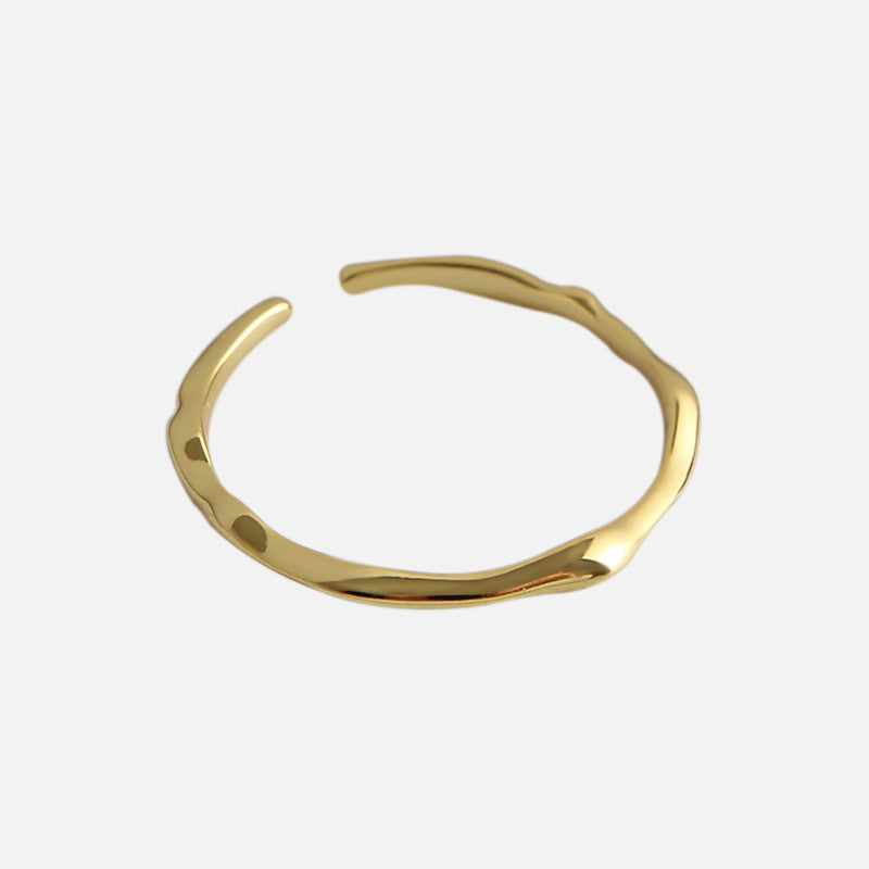 Adjustable Gold Wavelet Ring