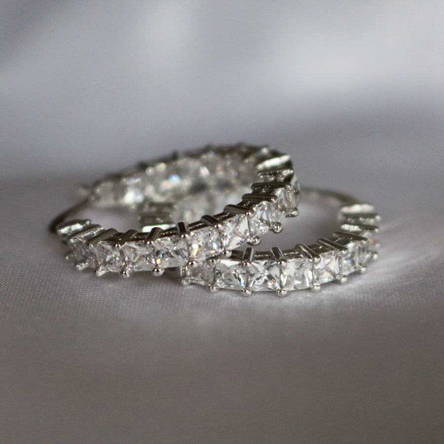 Mico Silver Hoop Earrings