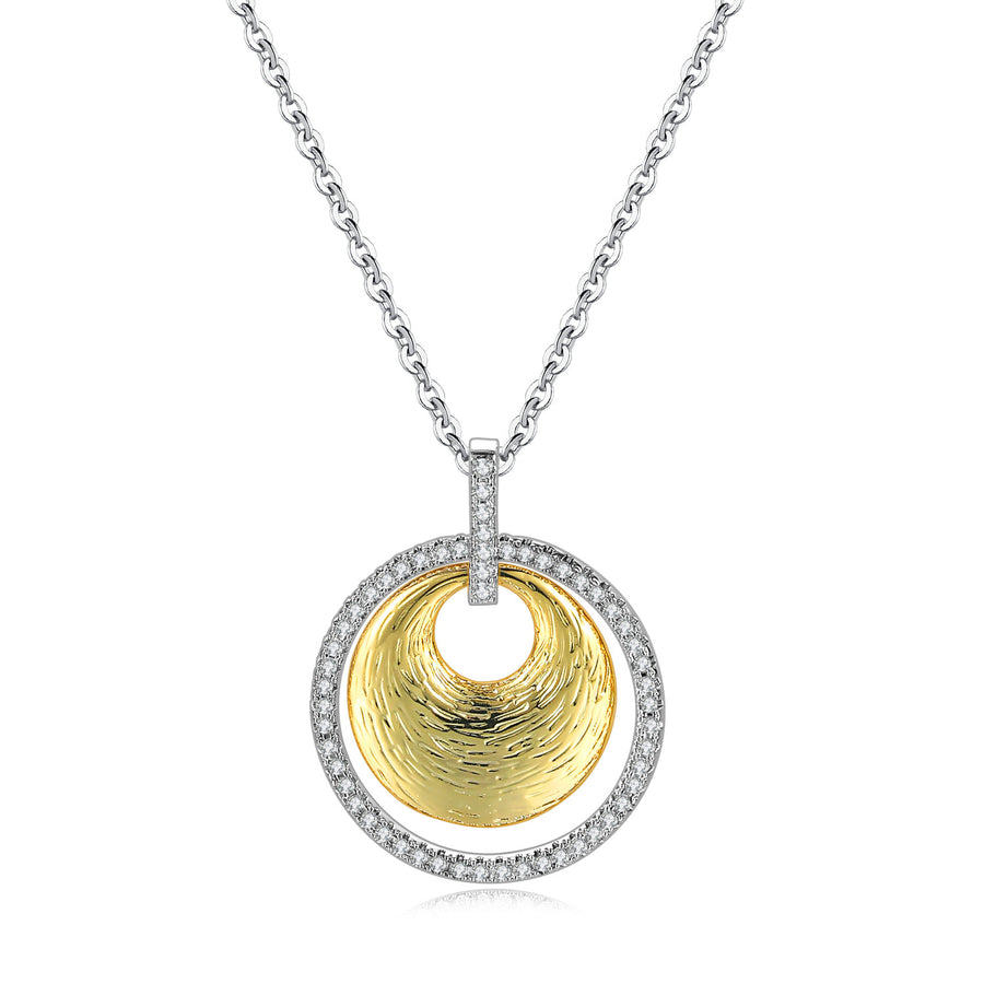Circe Golden Disc Necklace