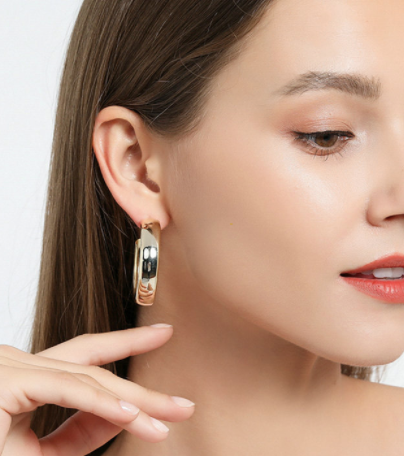 Colette Thick Gold Hoop Earrings