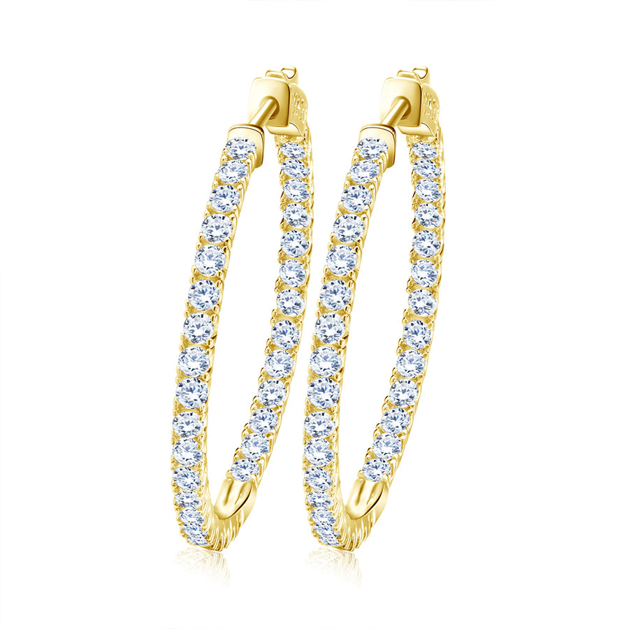 Lucet Gold Hoop Earrings