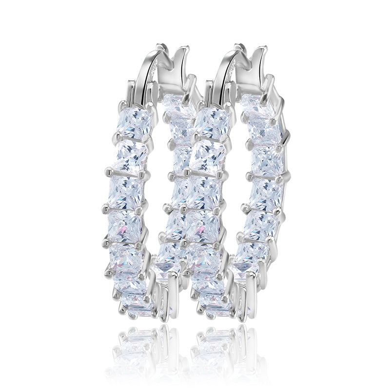 Mico Platinum Hoop Earrings