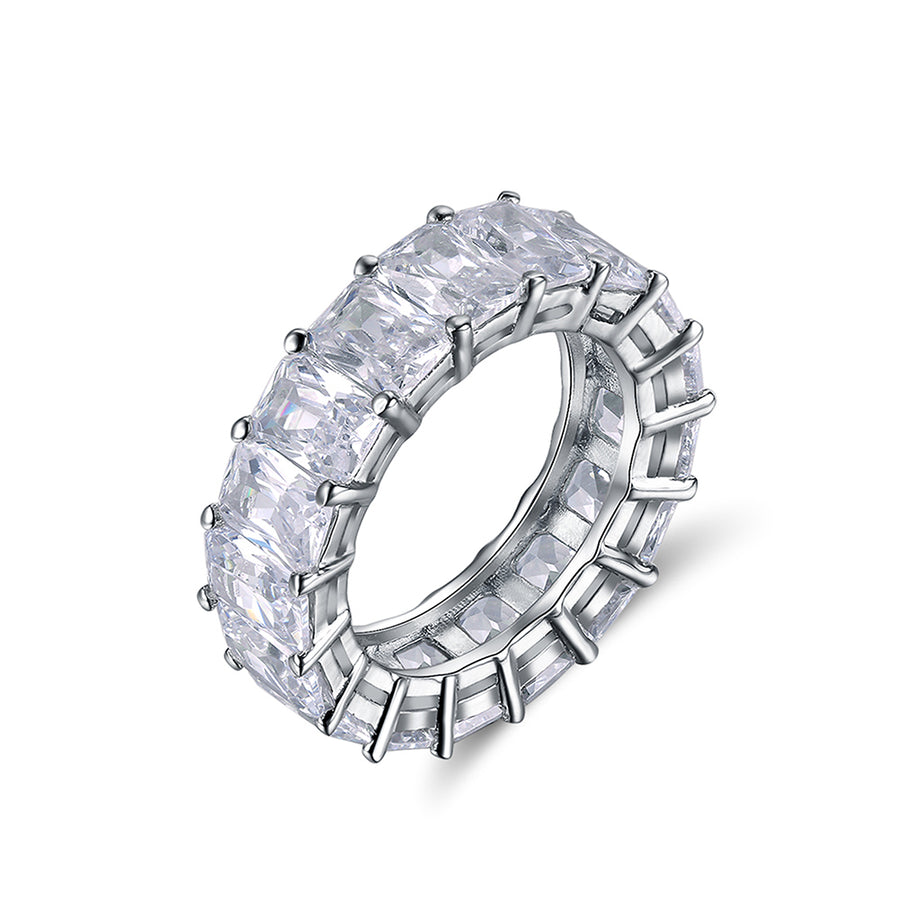 Silver Luxus Eternity Ring