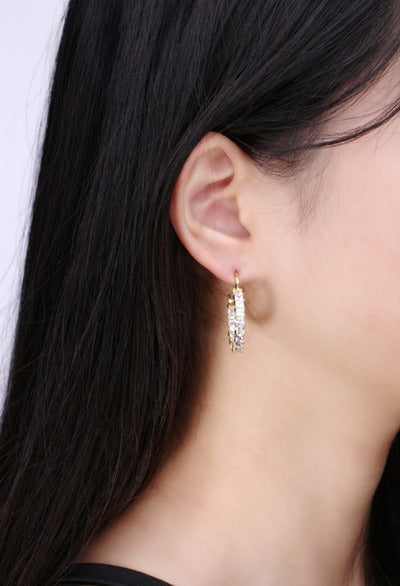 Mico Gold Hoop Earrings