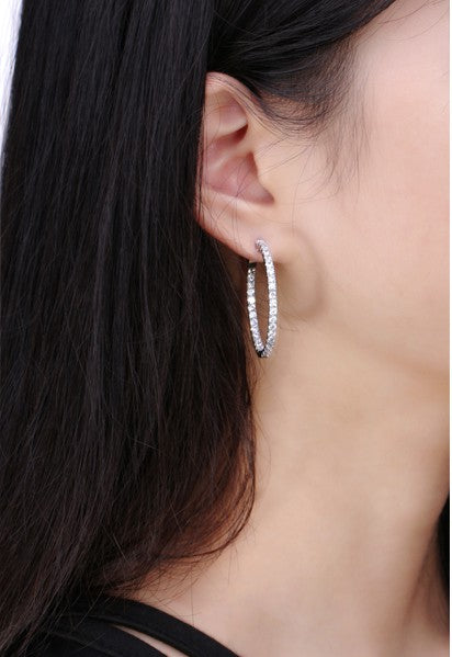 Lucet Platinum Hoop Earrings