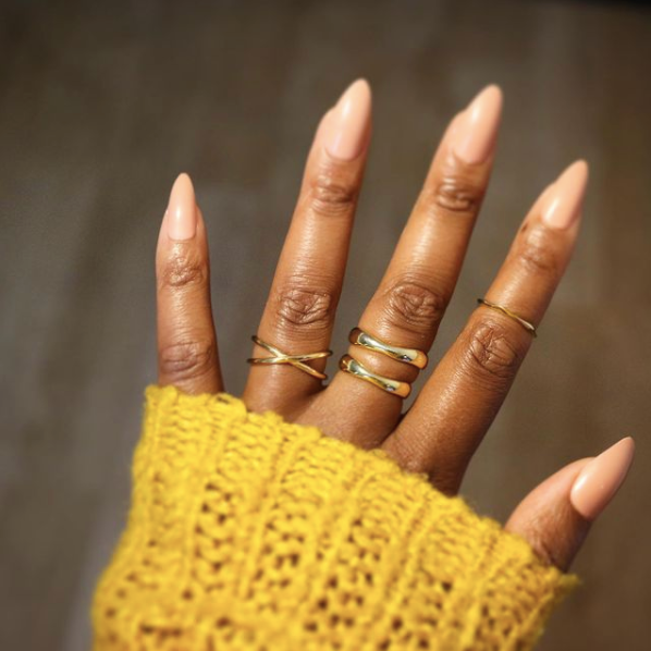 gold vermeil stacking rings