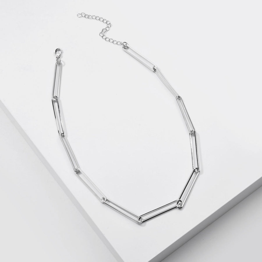Silver  Paperclip Necklace