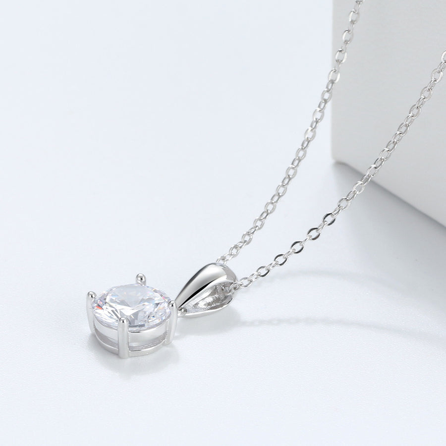 Sterling Silver Dia Necklace